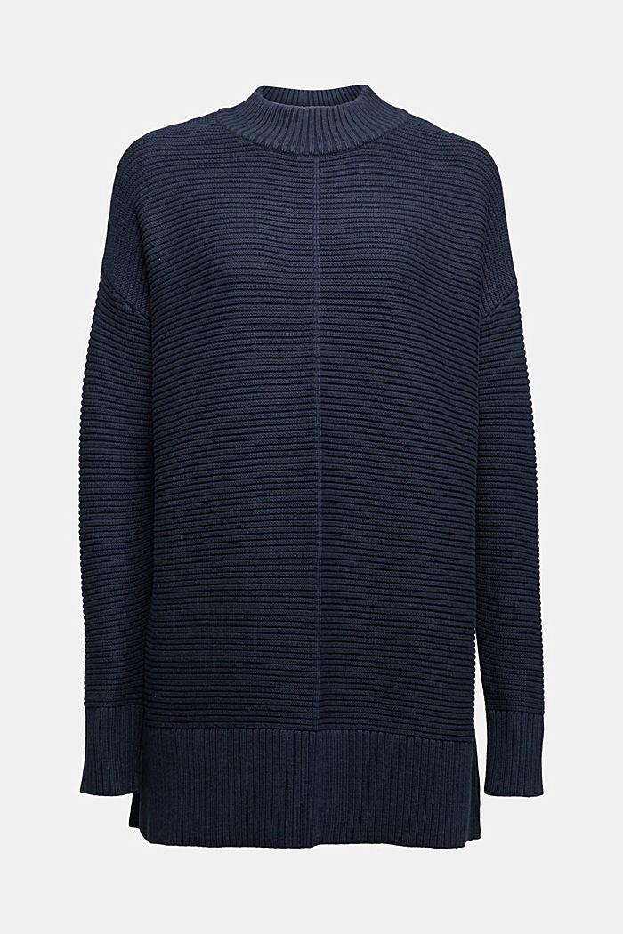 Mit Kaschmir: Organic Cotton Pullover, NAVY, detail image number 6