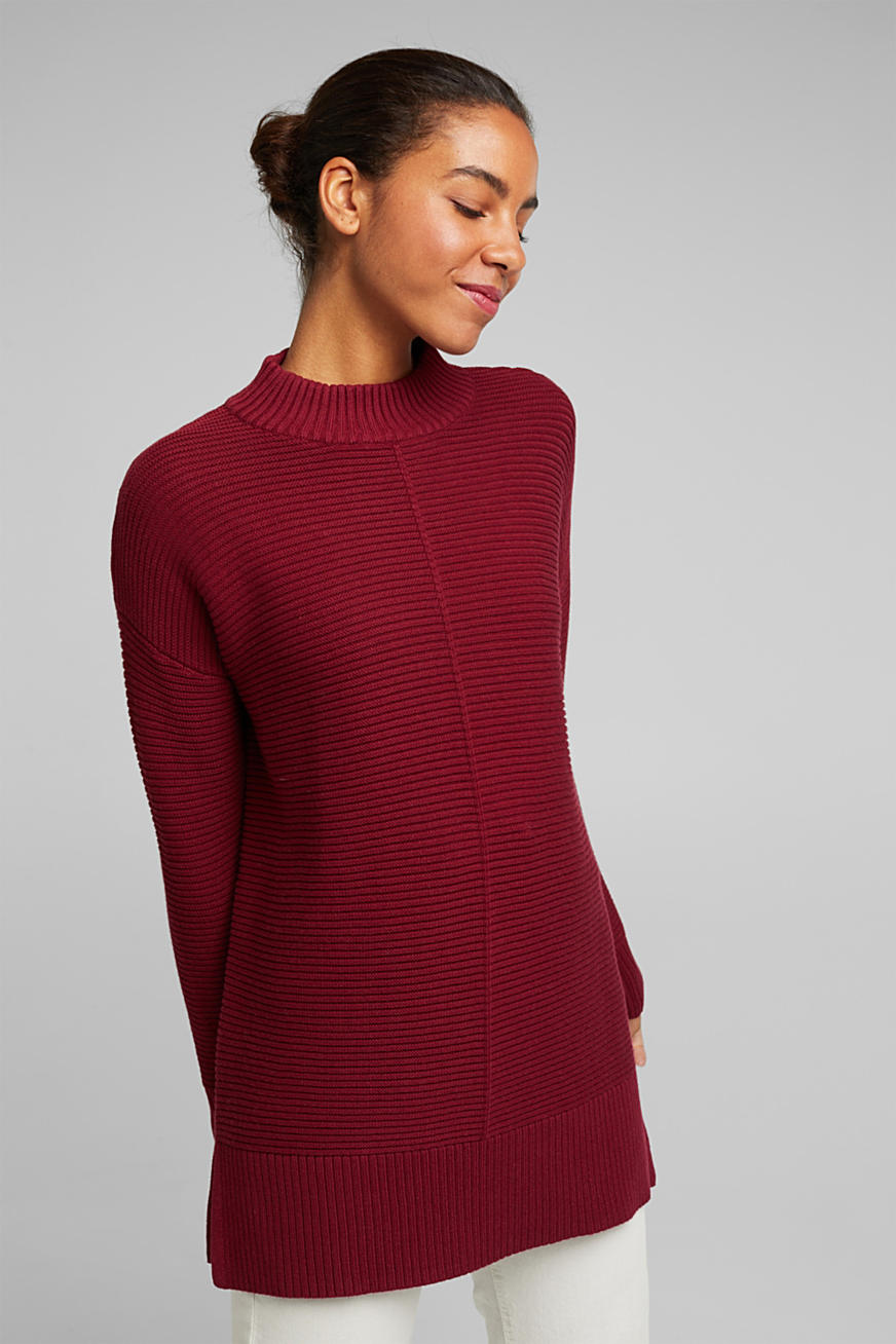 With cashmere: organic cotton jumper