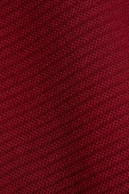 With cashmere: organic cotton jumper, BORDEAUX RED, detail