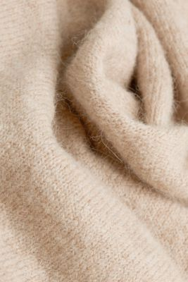 Long cardigan with alpaca, BEIGE 5, detail
