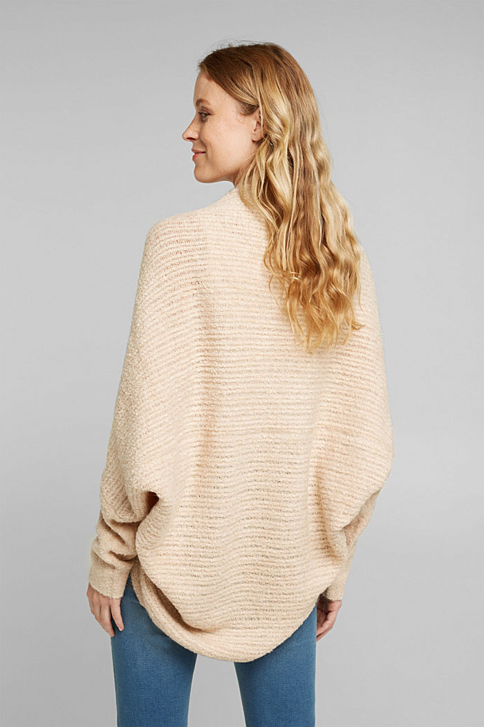 Wool blend: Cape-style cardigan, SAND, detail image number 3