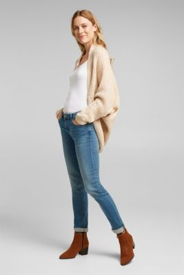 Wool blend: Cape-style cardigan, SAND, detail