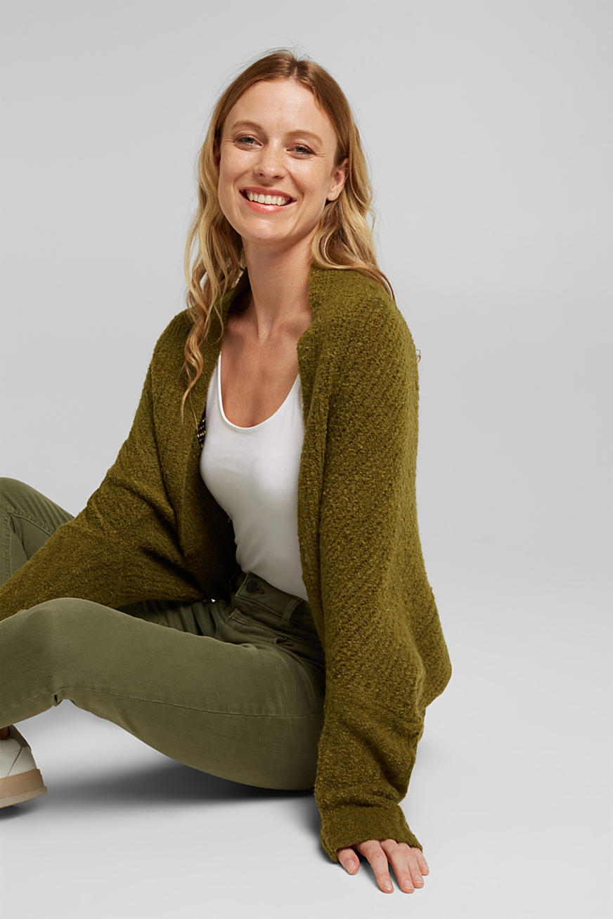 Wool blend: Cape-style cardigan