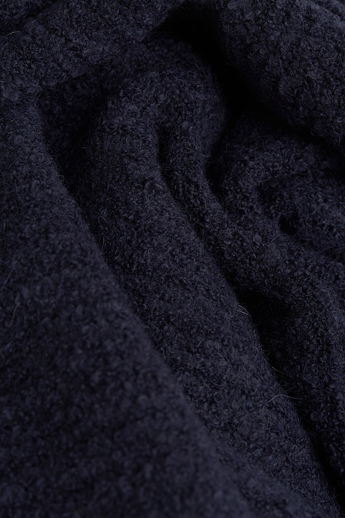 Wool blend: Cape-style cardigan, NAVY, detail image number 4