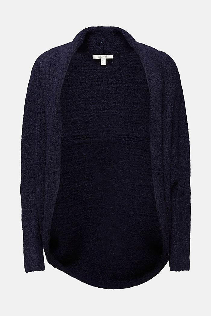 Wool blend: Cape-style cardigan, NAVY, detail image number 5