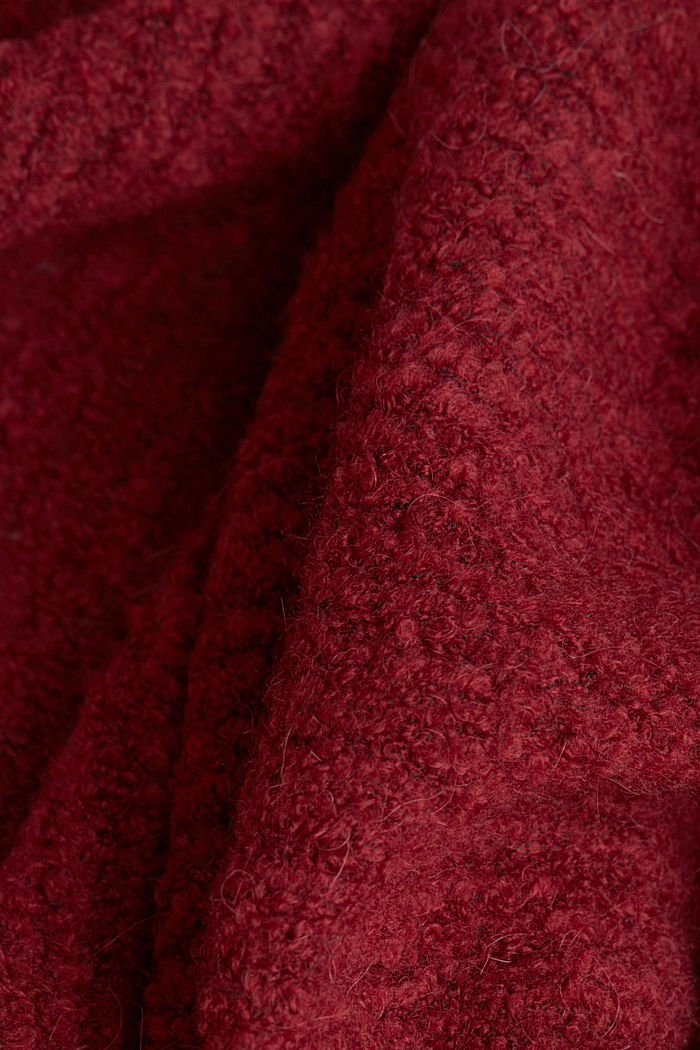 Mit Wolle: Cardigan im Cape-Stil, BORDEAUX RED, detail image number 4