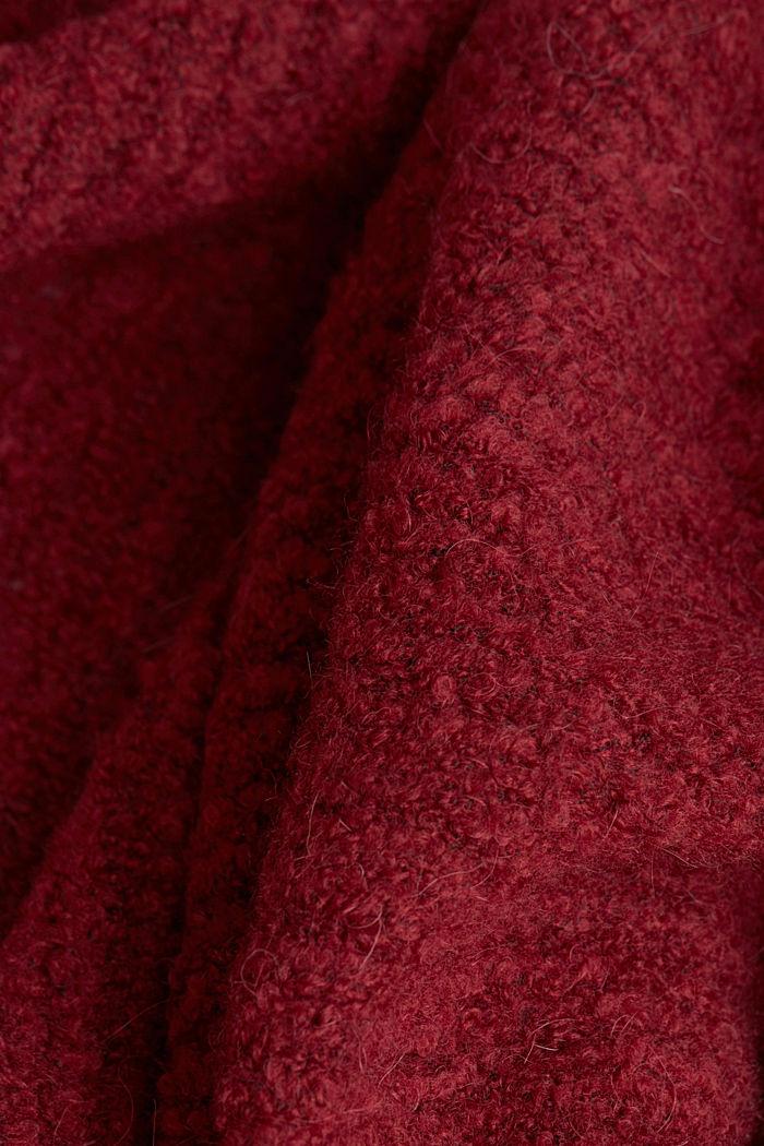 Mit Wolle: Cardigan im Cape-Stil, BORDEAUX RED, detail image number 4