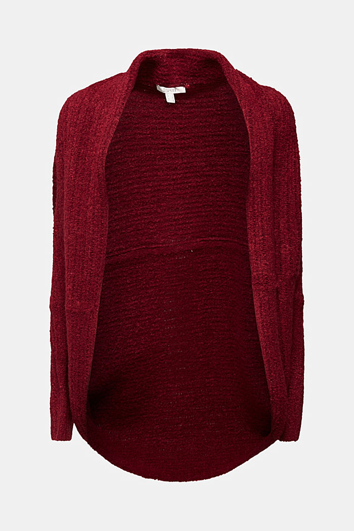 Mit Wolle: Cardigan im Cape-Stil, BORDEAUX RED, detail image number 6