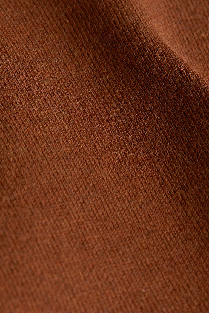 Boxy jumper made of compact knit fabric, TOFFEE, detail image number 4
