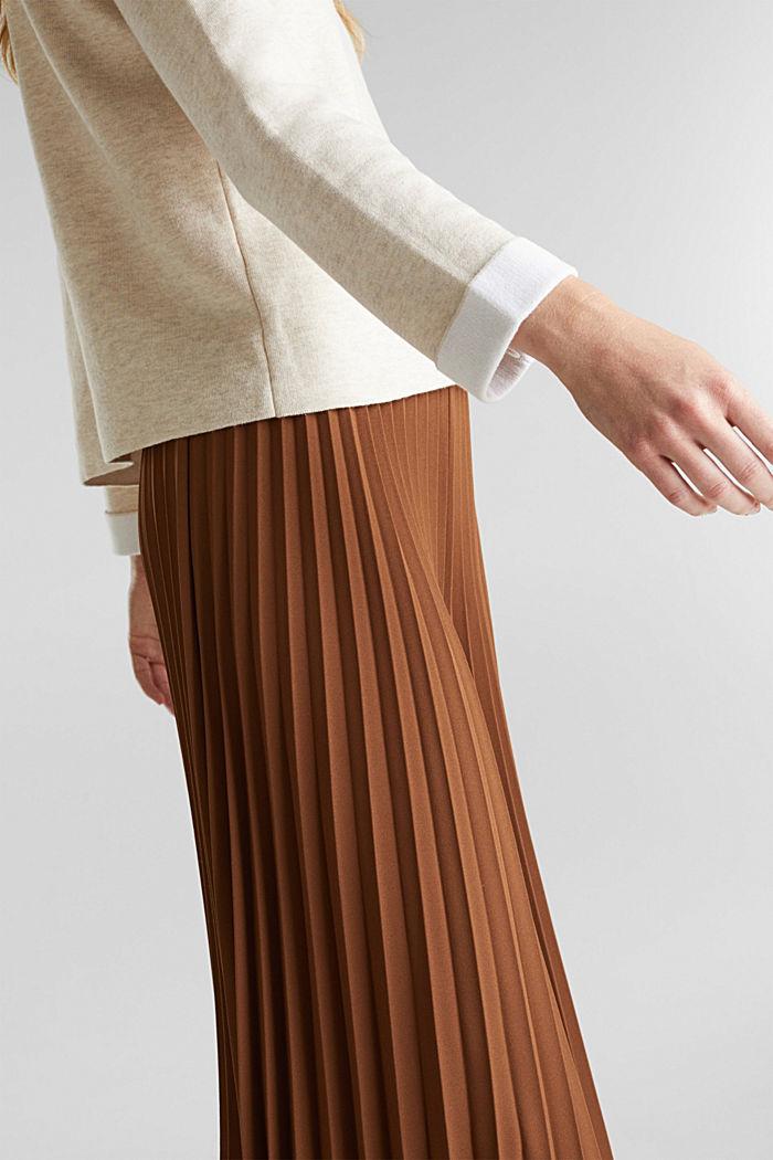 Boxy-Pullover aus kompaktem Strick, SAND, detail image number 2