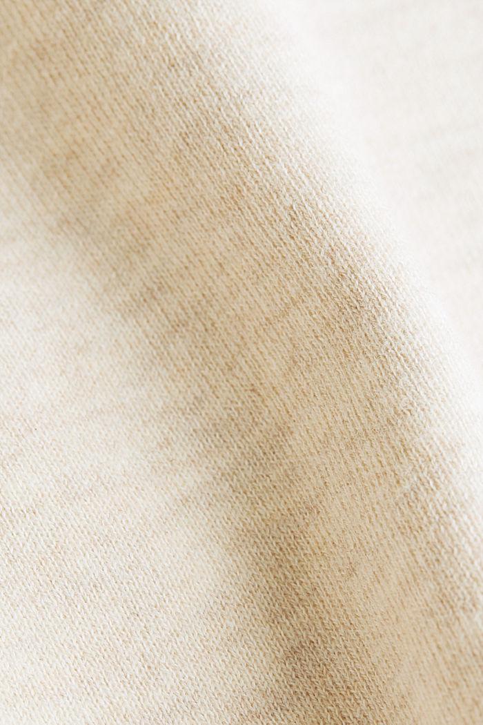 Boxy-Pullover aus kompaktem Strick, SAND, detail image number 4