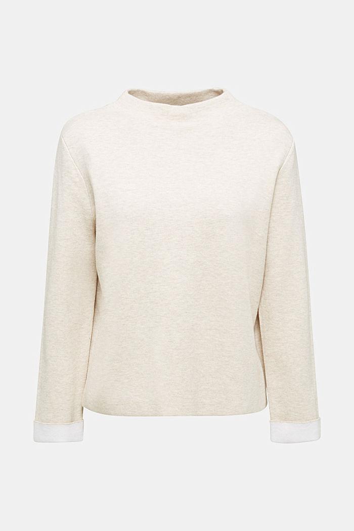 Boxy-Pullover aus kompaktem Strick, SAND, detail image number 6