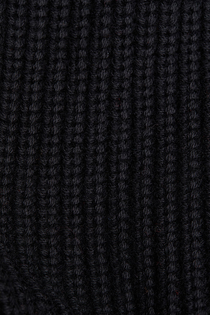 With cashmere: jumper made of organic cotton, BLACK, detail image number 4