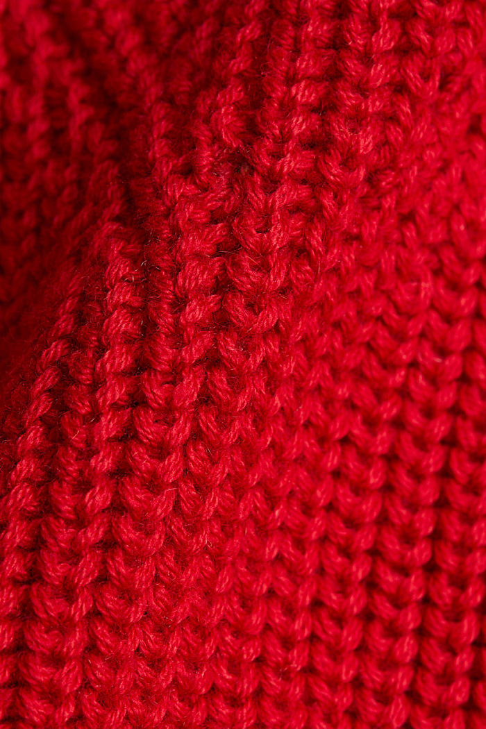 With cashmere: jumper made of organic cotton, RED, detail image number 4