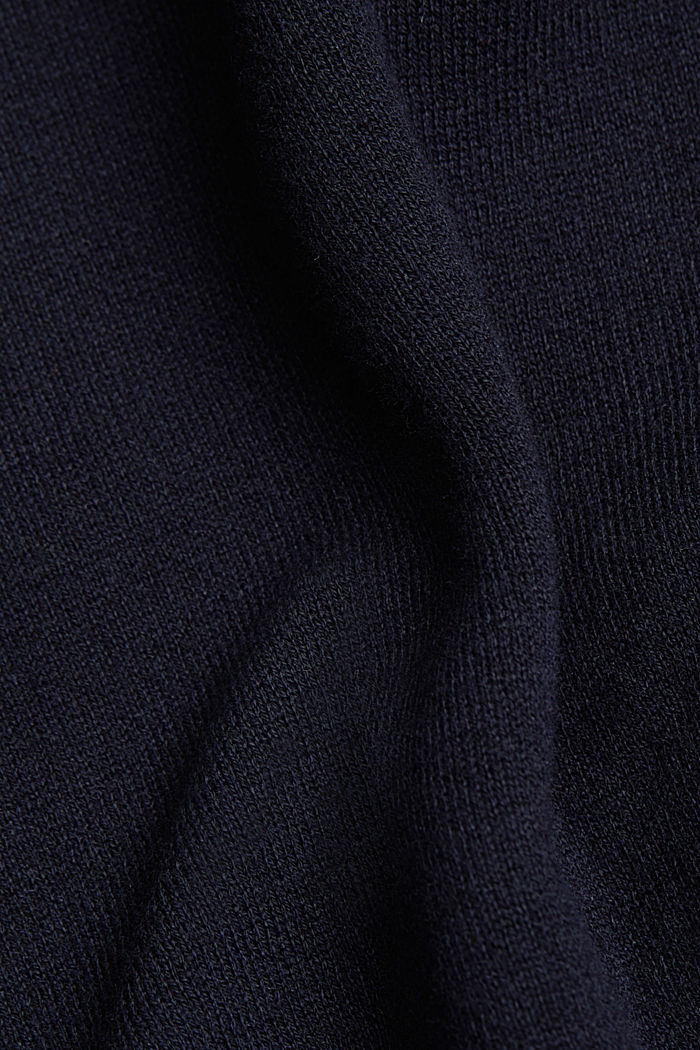 Long cardigan with organic cotton, NAVY, detail image number 4