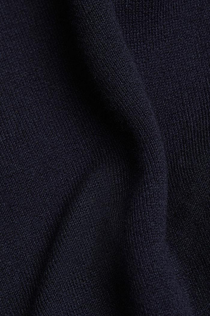 Long Cardigan mit Organic Cotton, NAVY, detail image number 4