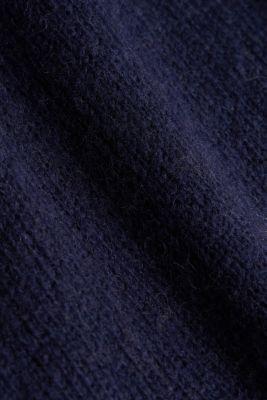 CURVY jumper with alpaca, NAVY, detail