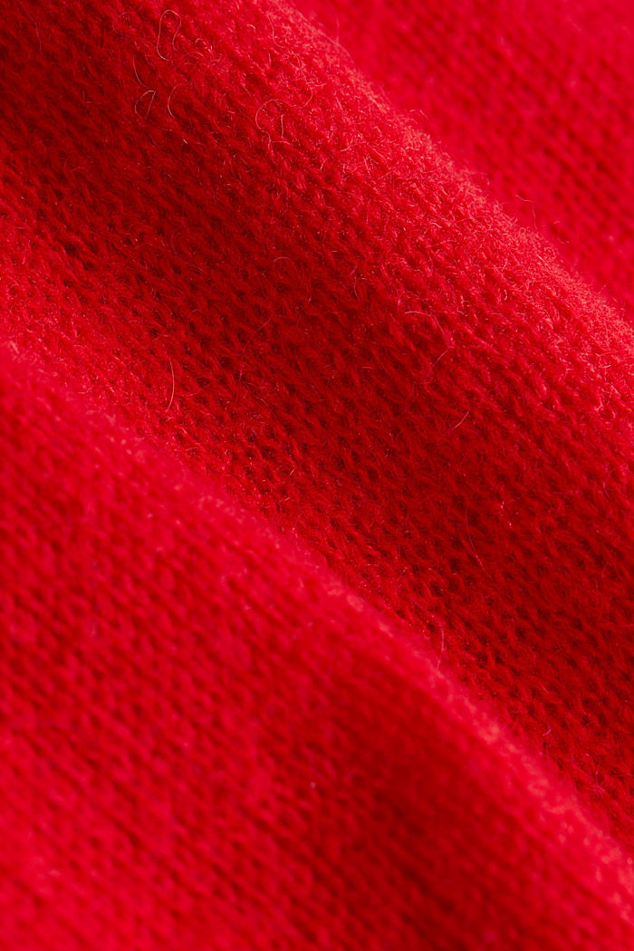CURVY jumper with alpaca, RED, detail image number 4