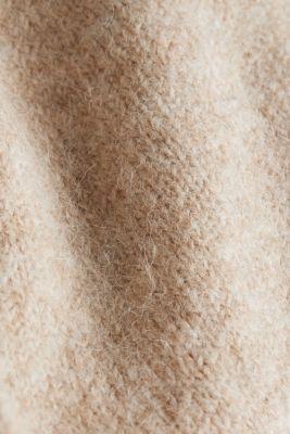 CURVY cardigan with alpaca, BEIGE 5, detail