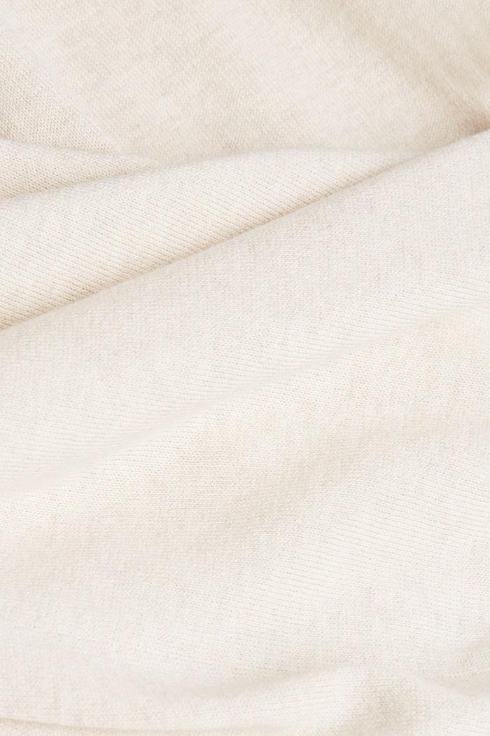 Jacquard jumper, 100% organic cotton, SAND, detail image number 4