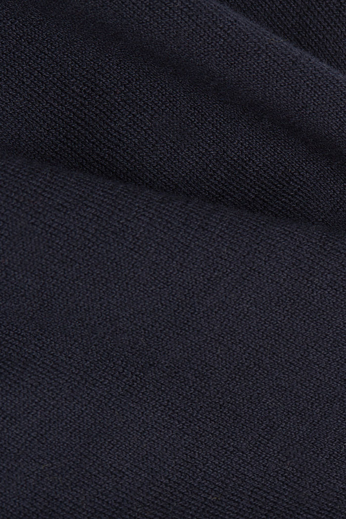 Jacquard jumper, 100% organic cotton, NAVY, detail image number 4