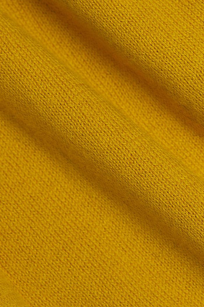 Jacquard-Pullover, 100% Bio-Baumwolle, BRASS YELLOW, detail image number 4