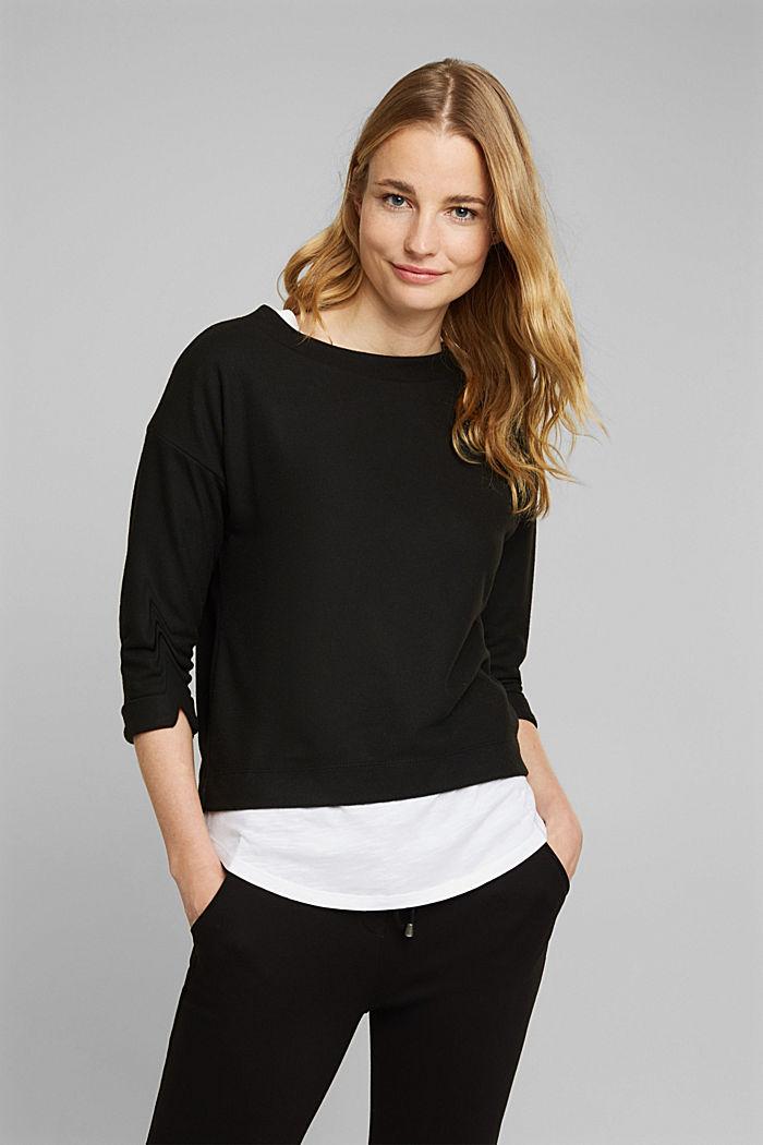 Soft, brushed sweatshirt, BLACK, detail image number 0