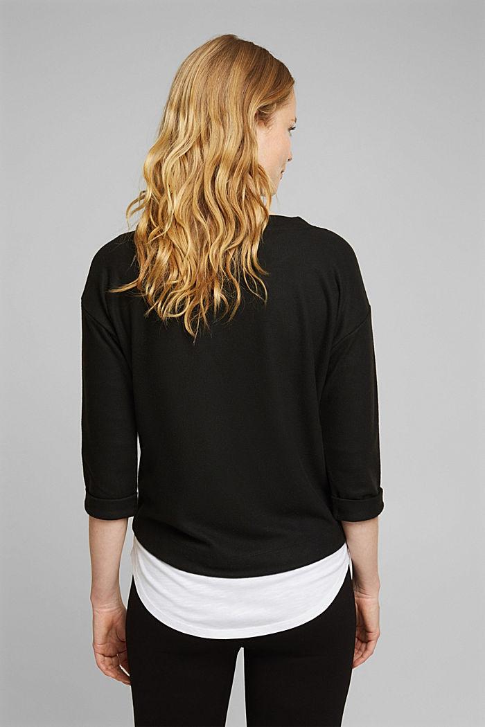 Soft, brushed sweatshirt, BLACK, detail image number 3