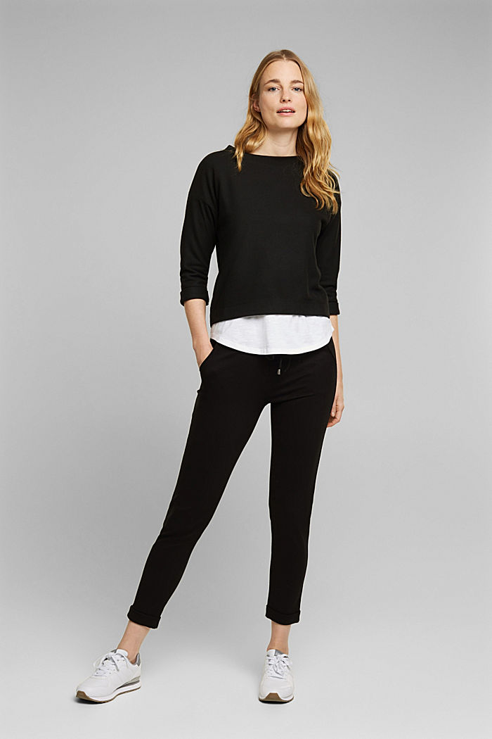 Soft, brushed sweatshirt, BLACK, detail image number 1