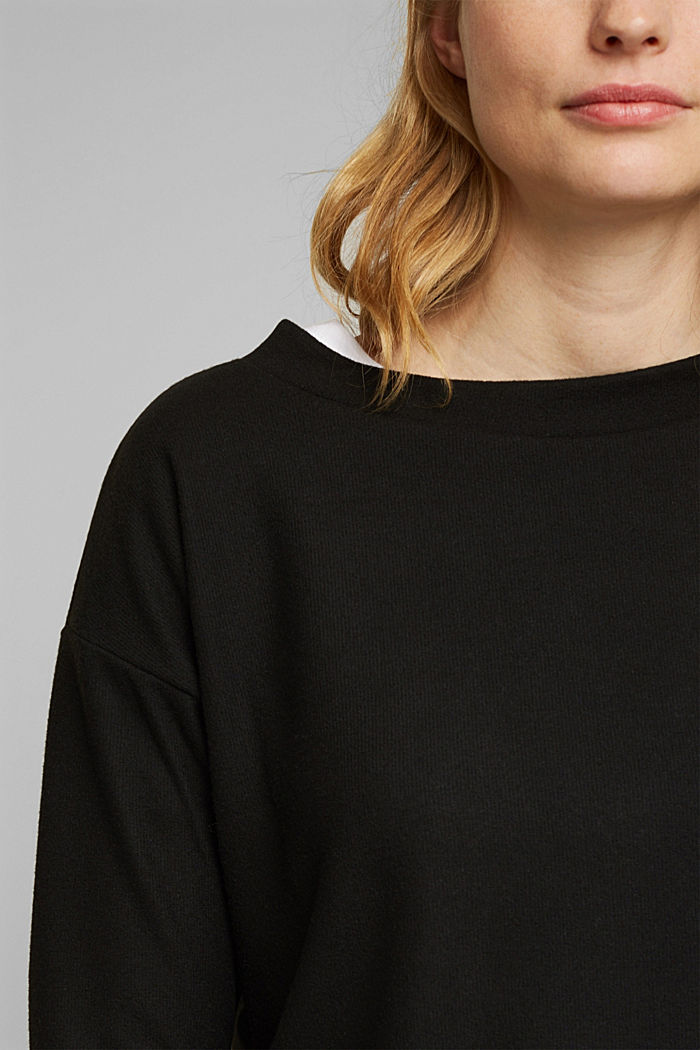 Soft, brushed sweatshirt, BLACK, detail image number 2