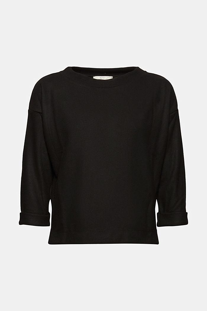 Soft, brushed sweatshirt, BLACK, detail image number 5