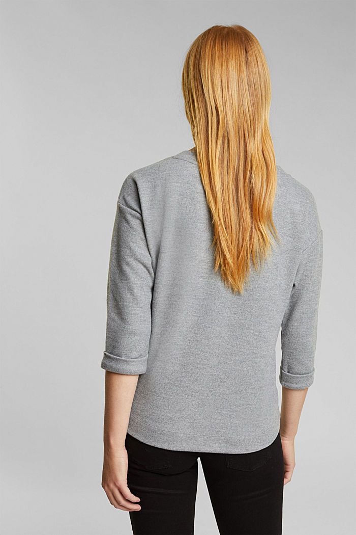 Soft, brushed sweatshirt, GUNMETAL, detail image number 2