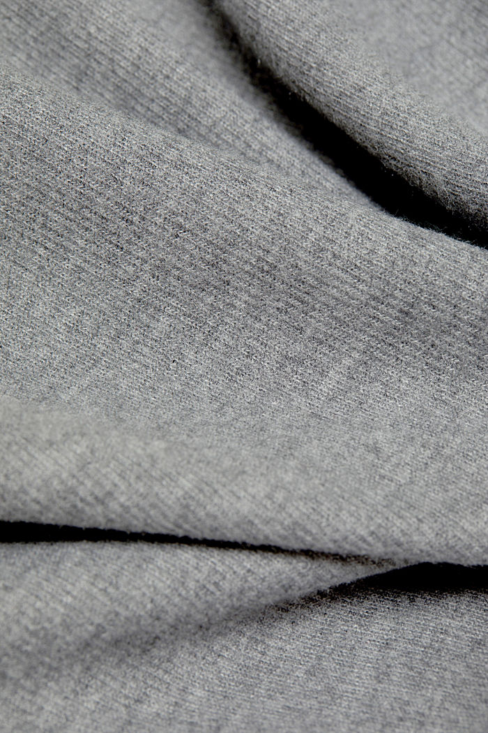 Soft, brushed sweatshirt, GUNMETAL, detail image number 3