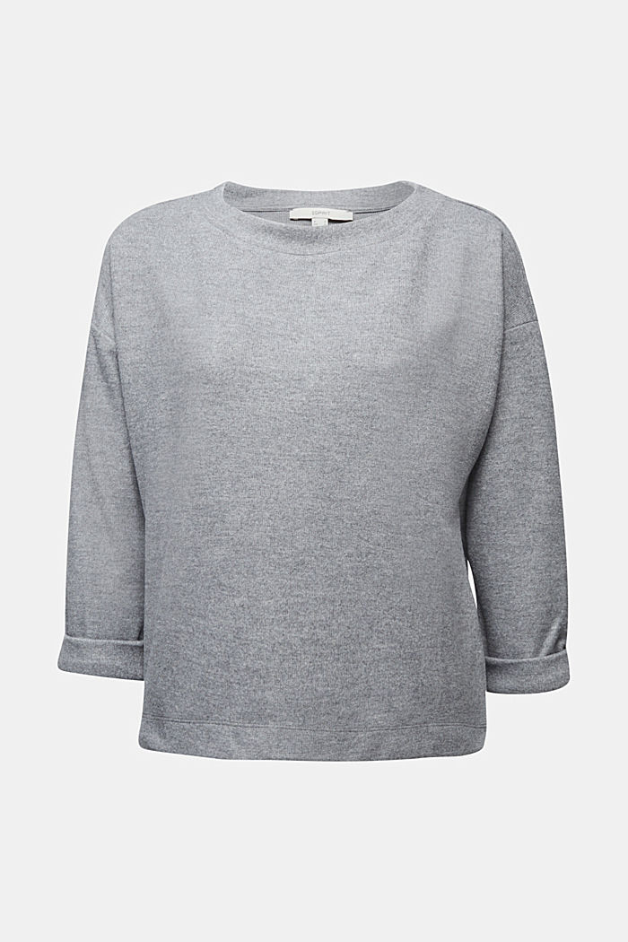 Soft, brushed sweatshirt, GUNMETAL, detail image number 4