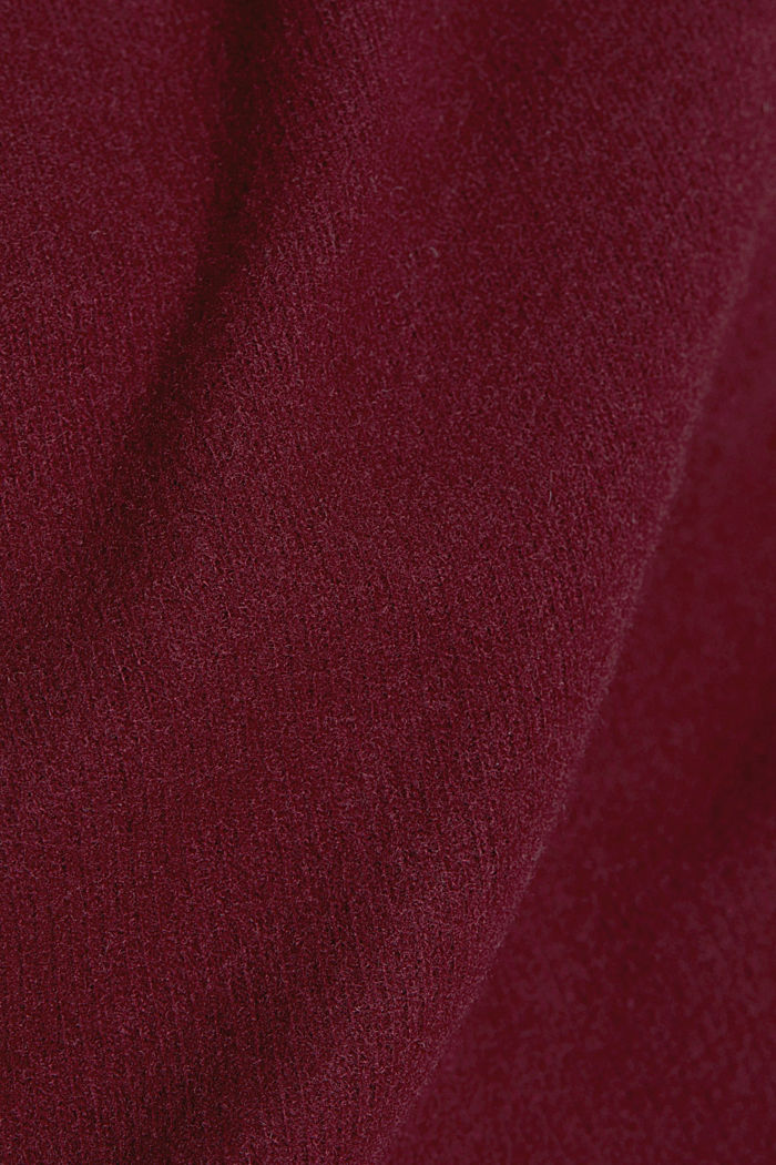 Soft, brushed sweatshirt, BORDEAUX RED, detail image number 4
