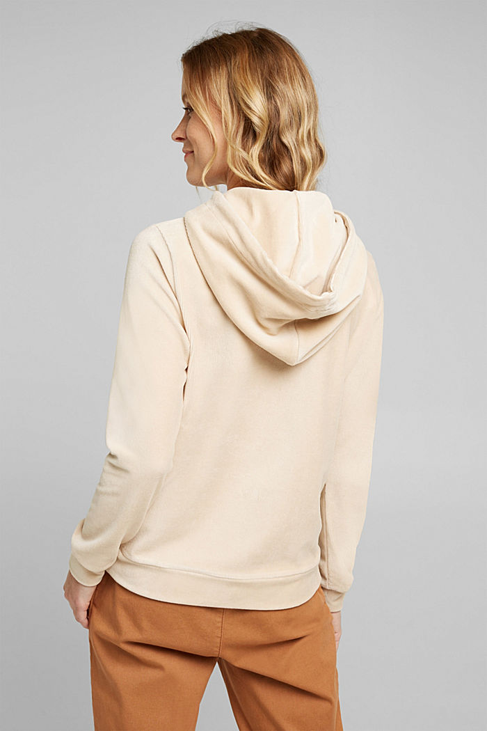 Corduroy hoodie in blended cotton, SAND, detail image number 3