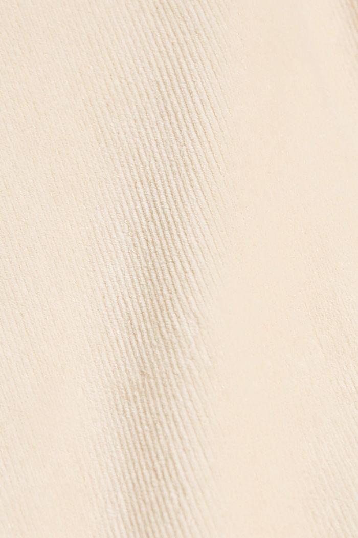 Cord-Hoodie aus Baumwoll-Mix, SAND, detail image number 4