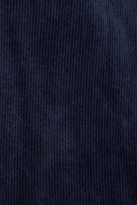 Corduroy hoodie in blended cotton, NAVY, detail