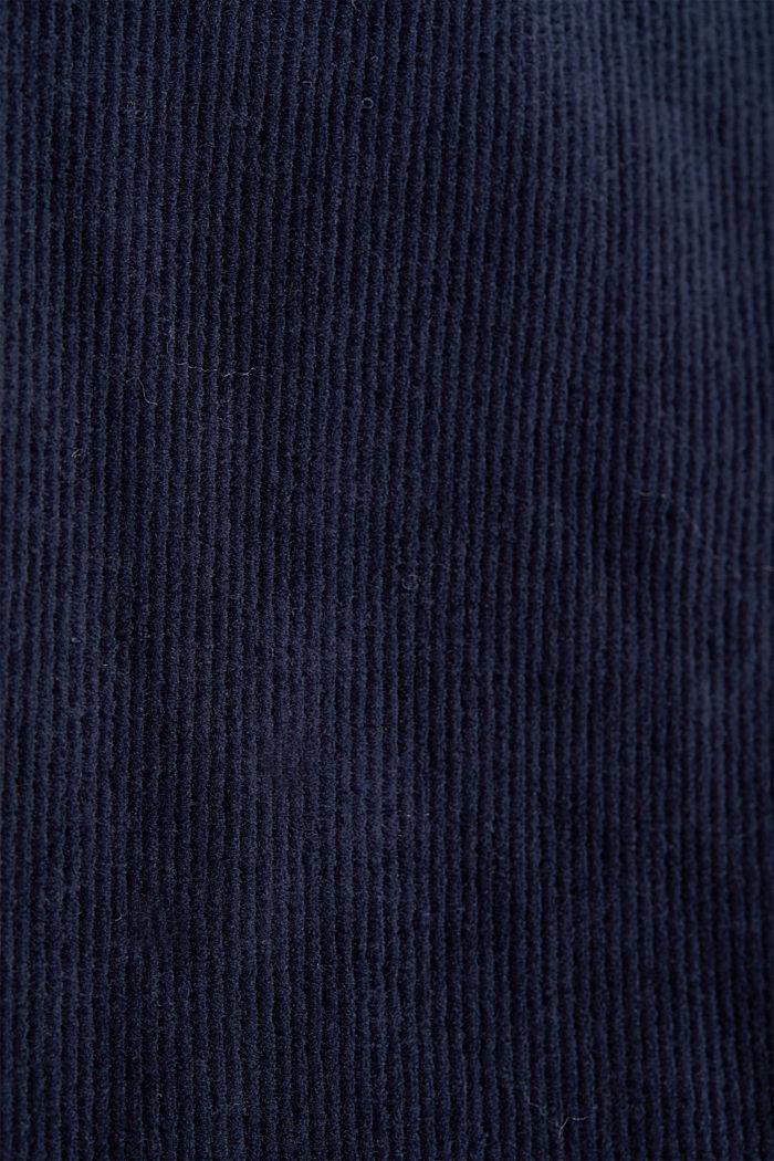 Cord-Hoodie aus Baumwoll-Mix, NAVY, detail image number 4
