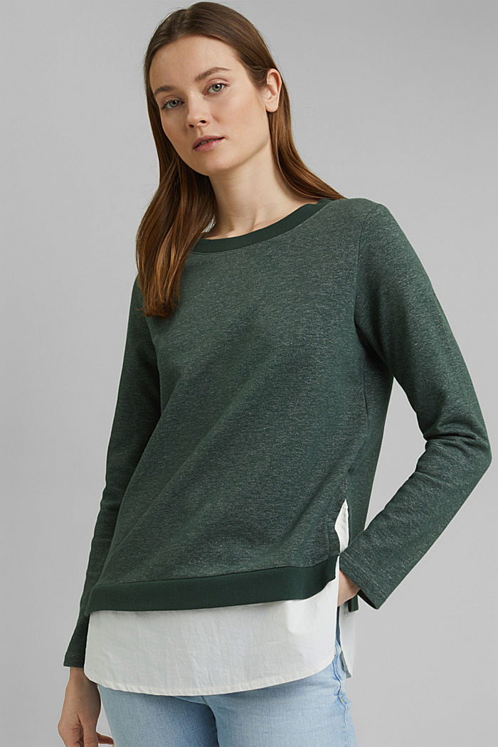 Sweatshirt im Layer-Look