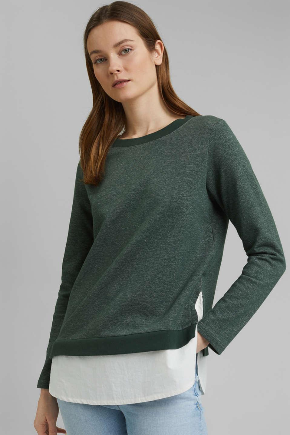 Esprit - Sweatshirt i layer-look