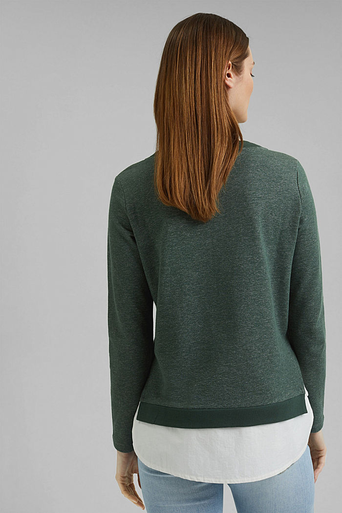 Sweatshirt im Layer-Look, DARK GREEN, detail image number 3