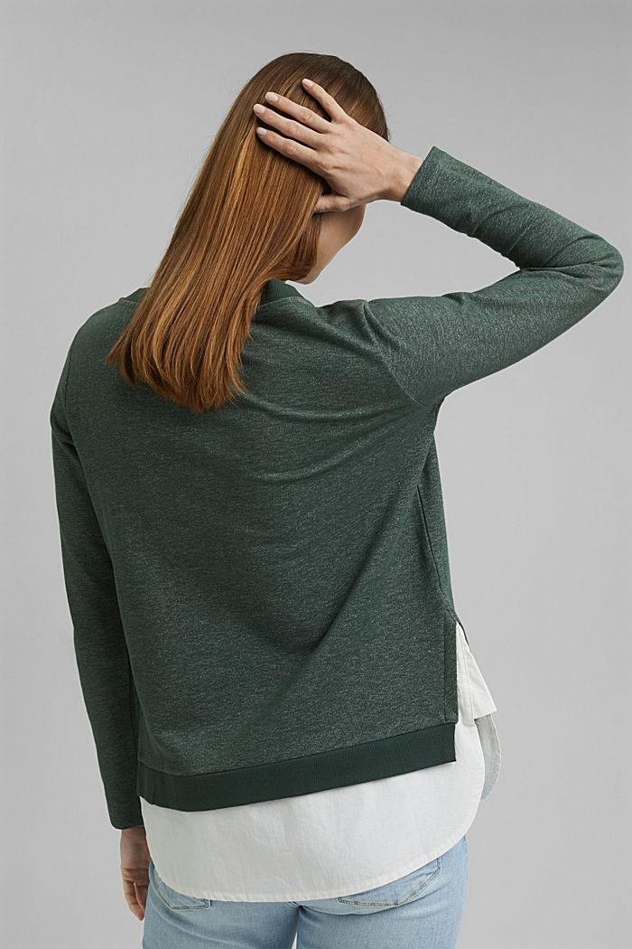 Sweatshirt im Layer-Look, DARK GREEN, detail image number 5