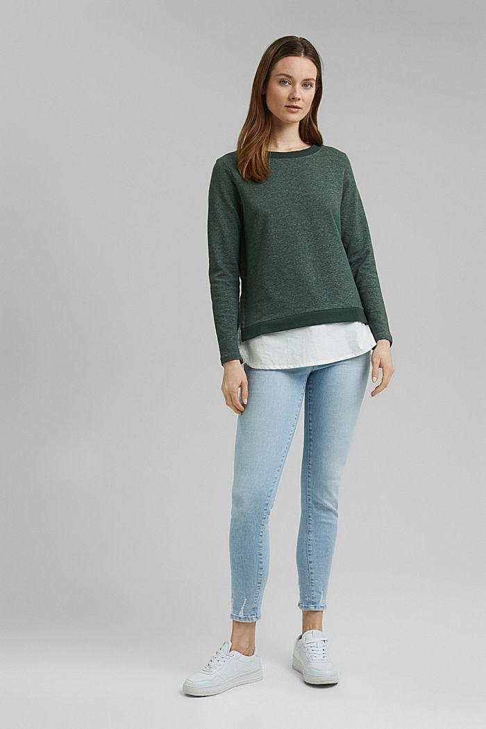 Sweatshirt im Layer-Look, DARK GREEN, detail image number 1