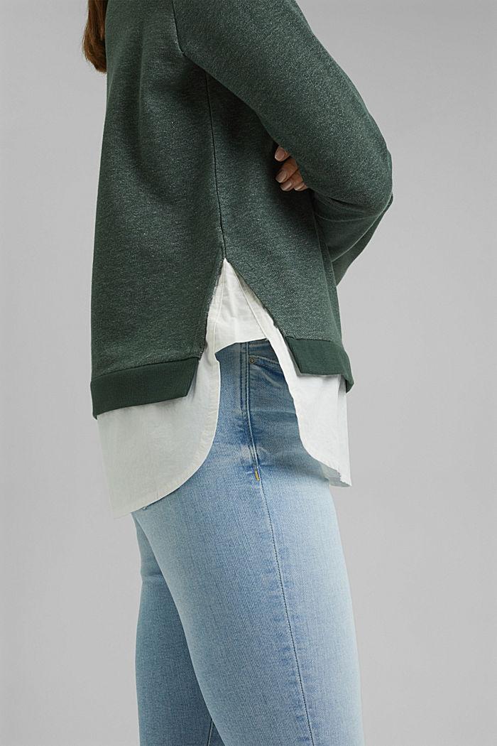 Sweatshirt im Layer-Look, DARK GREEN, detail image number 2