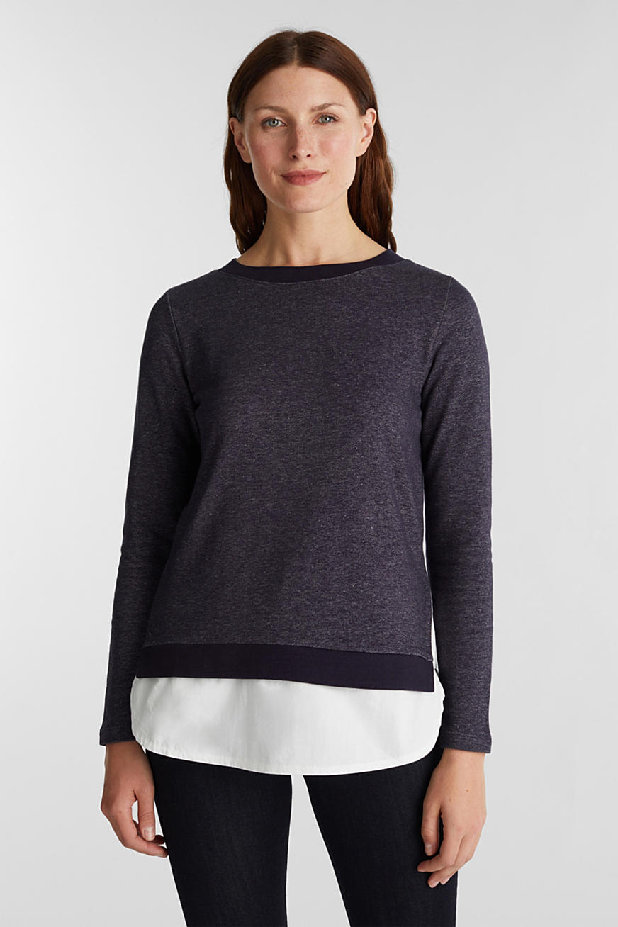 Sweatshirt in laagjeslook