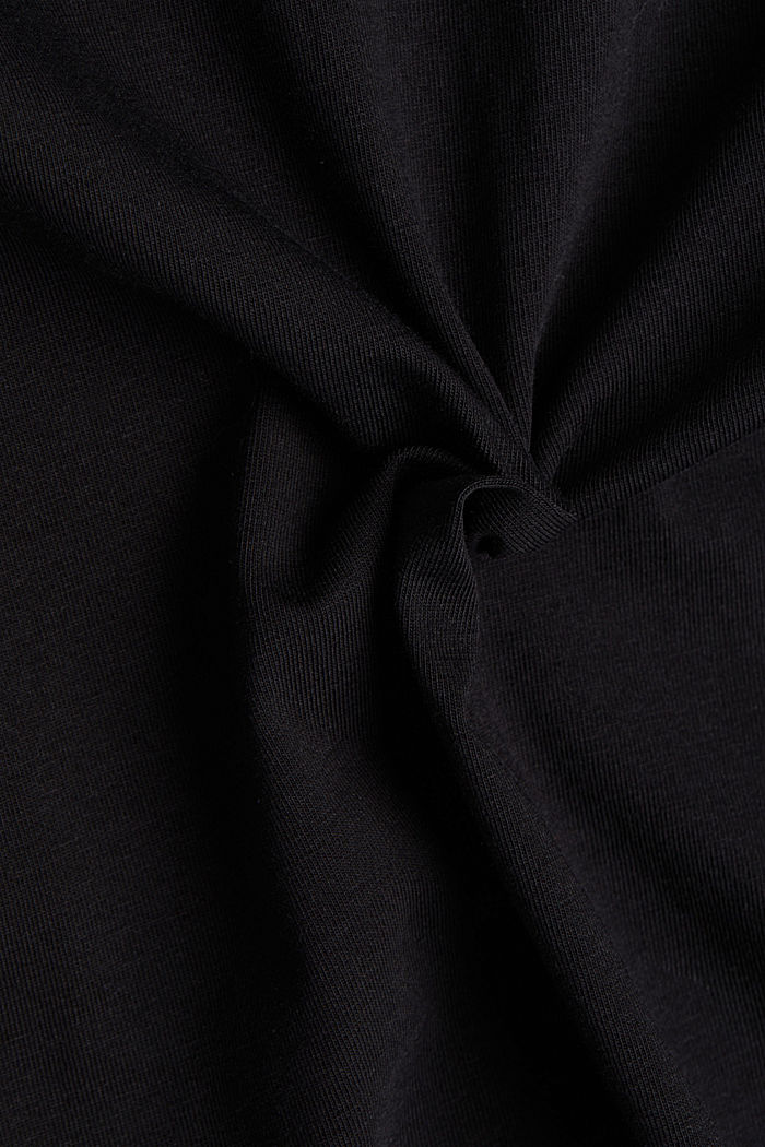 Long sleeve top with organic cotton, BLACK, detail image number 4