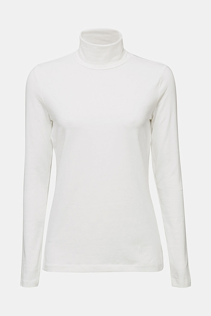 Long sleeve top with organic cotton, OFF WHITE, detail image number 6