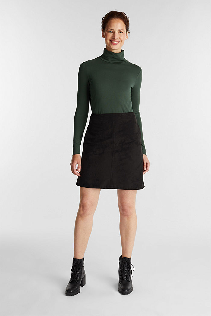 Long sleeve top with organic cotton, DARK GREEN, detail image number 1