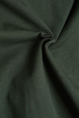 Long sleeve top with organic cotton, DARK GREEN 4, detail